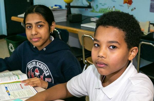 Student pair work