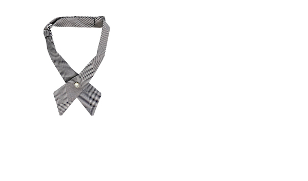 Girl's grey uniform tie