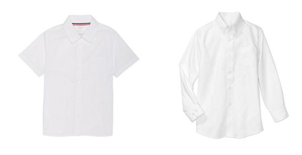 Short sleeve and long sleeve uniform shirt