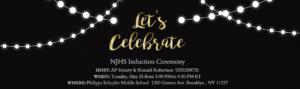 NJHS Induction Ceremony Invitation