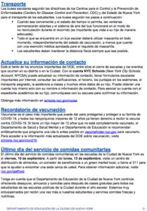 Family Newsletter in Spanish page 3