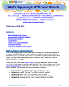 Family Newsletter page 1